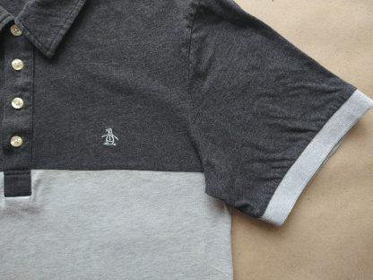 S . Original Penguin . světle a tmavě šedé polo