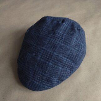 M/L . Gutteridge . modrá kostkovaná vlněná bekovka