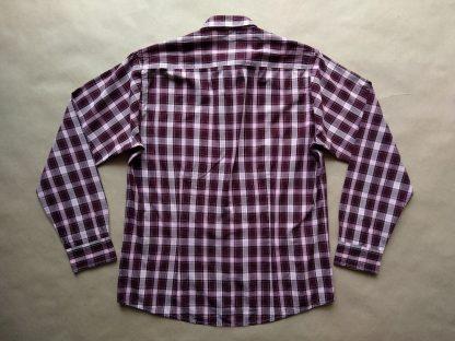 M . Lambretta . bílo-růžovo-vínová kostkovaná košile