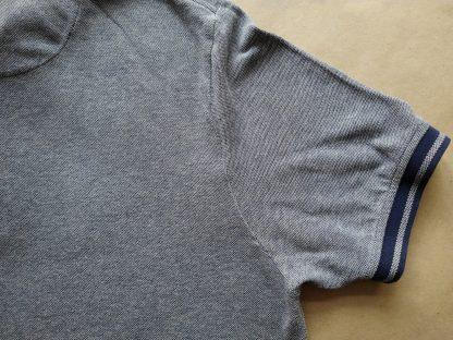 XXL . Lyle & Scott . bílo-tmavě modré polo se světle růžovým proužkem