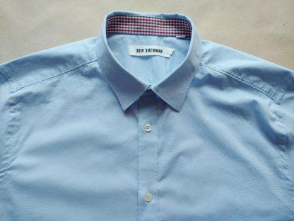 S . Ben Sherman . světle modrá košile s dlouhým rukávem