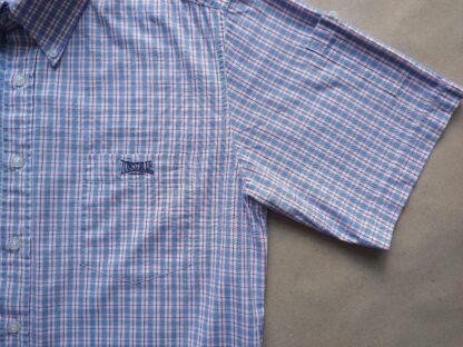 L . Lonsdale . světle modro-červeno-bílá kostkovaná košile