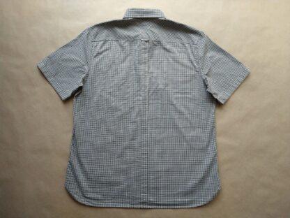 XL . Fred Perry . hnědo-černo-bílá kostkovaná gingham košile