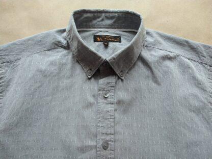 M . Ben Sherman . šedá košile s jemným bílým vzorem