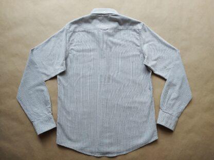 S . Ben Sherman . šedo-bílá pruhovaná košile