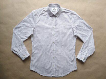 M . Ben Sherman . modro-červeno-bílá vzorovaná košile