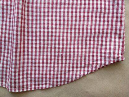 S . Farah . červeno-krémová kostkovaná gingham košile
