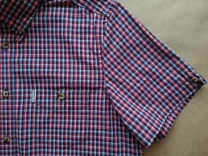M . Ben Sherman . červeno-vínovo-modro-bílá kostkovaná košile