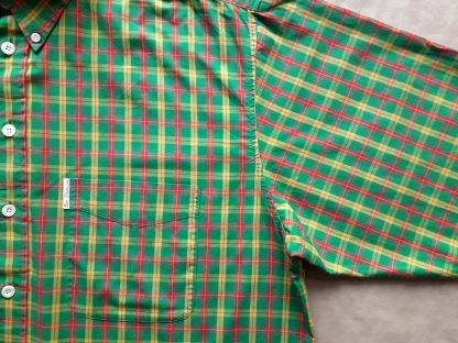 XL . Ben Sherman . zelená kostkovaná košile s žlutým a červeným proužkem