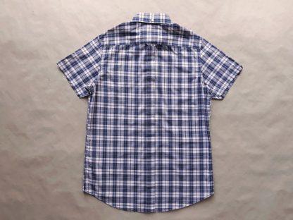 S . Ben Sherman . fialovo-vínová kostkovaná košile