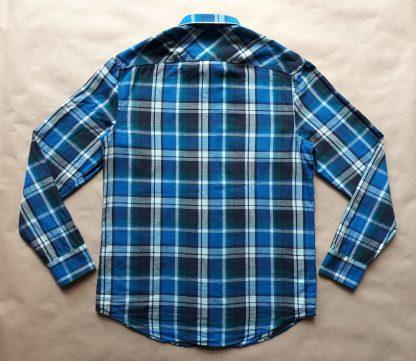 M . Original Penguin . bílo-zeleno-modrá kostkovaná košile
