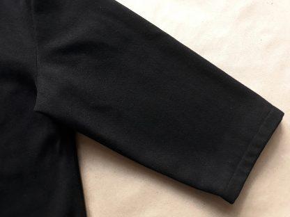 XXL . Lonsdale . černý kabát s tartanovou podšívkou