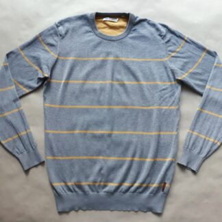 XL . Ben Sherman . žluto-šedý pruhovaný svetr