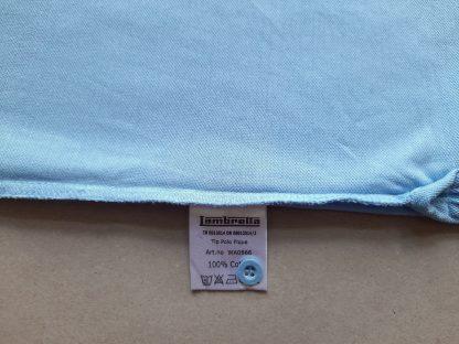 L . Lambretta . světle modré polo s bílým a černým proužkem