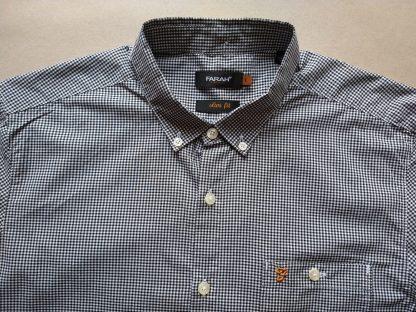 L . Farah . černo-bílá kostkovaná gingham košile