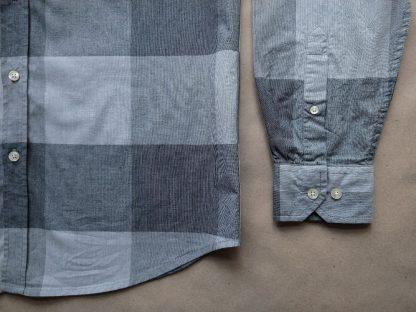 L . Ben Sherman . šedá kostkovaná košile