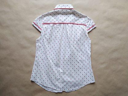 S . Ben Sherman . dámská bílá košile s červeno-modrým vzorem
