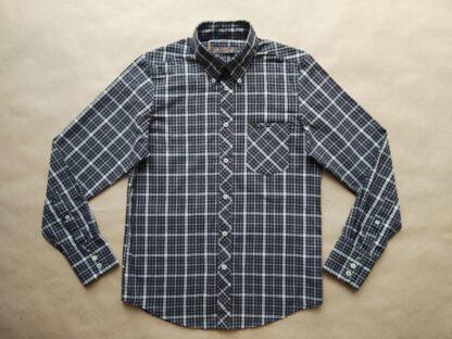 S . Ben Sherman . šedo-černá kostkovaná košile