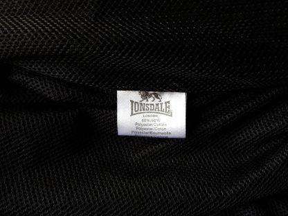 M . Lonsdale . černá bunda monkey jacket s červeným a krémovým proužkem