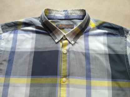 L . Ben Sherman . lehká modro-žluto-šedo-bílá košile