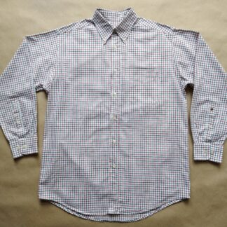 L/XL . Burlington . vínovo-modro-bílá kostkovaná košile