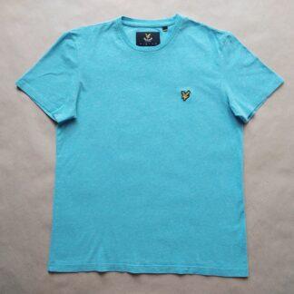 M . Lyle & Scott . světle tyrkysové tričko s lehkým žíháním