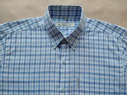 S/M . Ben Sherman . lehká světle modro-bílá kostkovaná košile