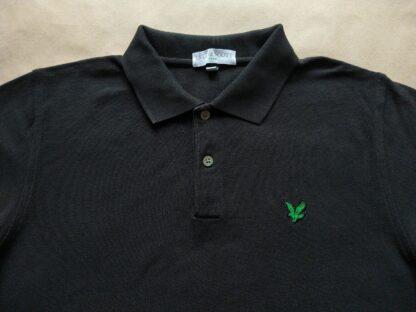 M . Lyle & Scott . černé polo se zeleným orlem