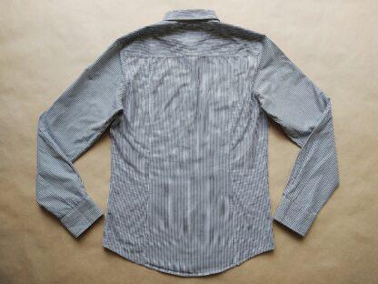 S . Ben Sherman . černo-bílá pruhovaná košile s kapsičkami