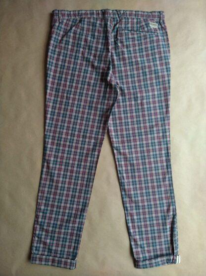 34/32 . Ben Sherman . červeno-bílo-modré kostkované kalhoty