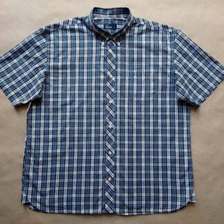 XXL . Fred Perry . modro-červeno-bílá kostkovaná košile