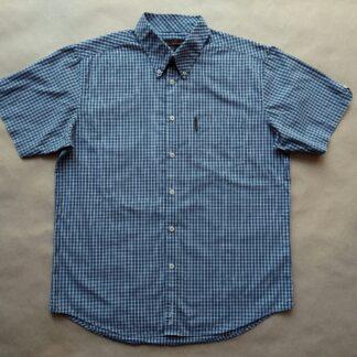 L/XL . Ben Sherman . modro-bílá kostkovaná košile
