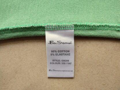 L . Ben Sherman . dámské světle zelené polo s bílým proužkem
