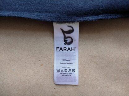 S . Farah . růžovo-tmavě modrá mikina s bílým pruhem