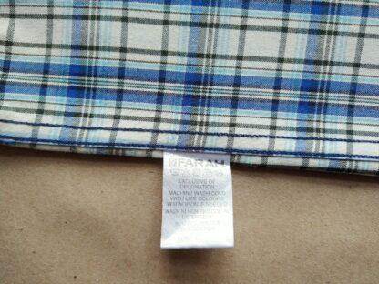 L/XL . Farah . modro-krémová kostkovaná košile