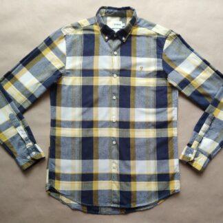 M . Farah . tmavo modro-žluto-bílá kostkovaná košile