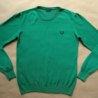 16 let / pánské XS / dámské 42 . Fred Perry . zelený svetr