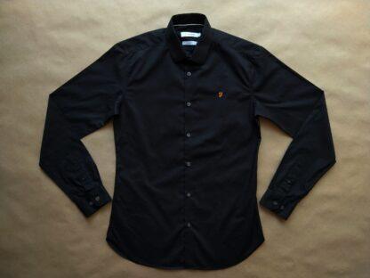 S . Farah . černá košile s dlouhým rukávem