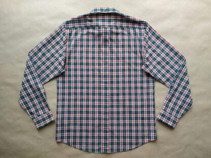 L . Ben Sherman . tmavě zeleno-červeno-šedá kostkovaná košile