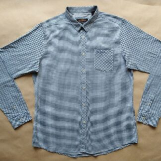 XL . Ben Sherman . modro-bílá kostkovaná gingham košile