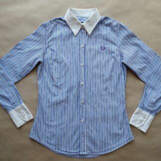 S . Fred Perry . dámská modro-bílá pruhovaná košile
