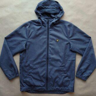 M . Lyle & Scott . lehká modrá bunda s kapucí